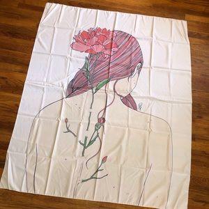 Lady Flower spine Tapestry